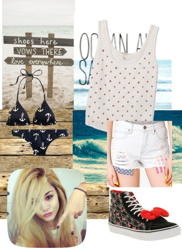 """beach"" by starrygirldream ❤ liked on Polyvore"