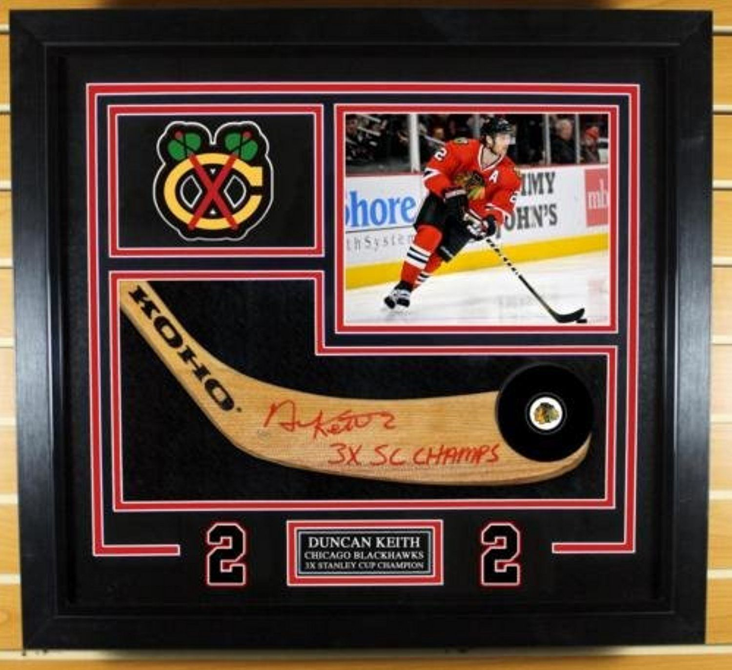 Duncan Keith Chicago Blackhawks Signed Autographed 3x Champ Stick ...