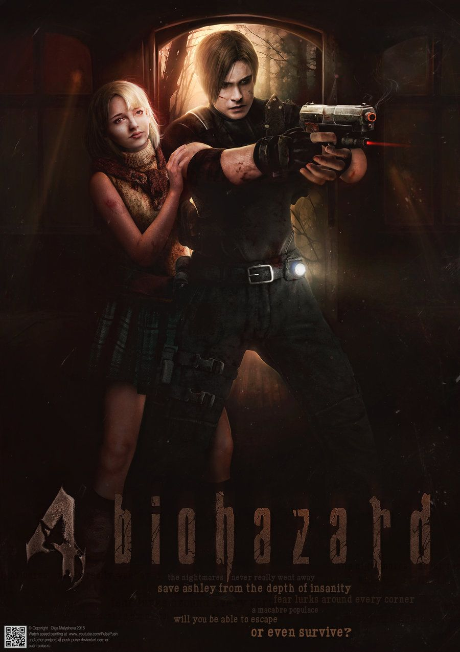 Resident Evil 4 Biohazzard 4 Posterby Push Pulse