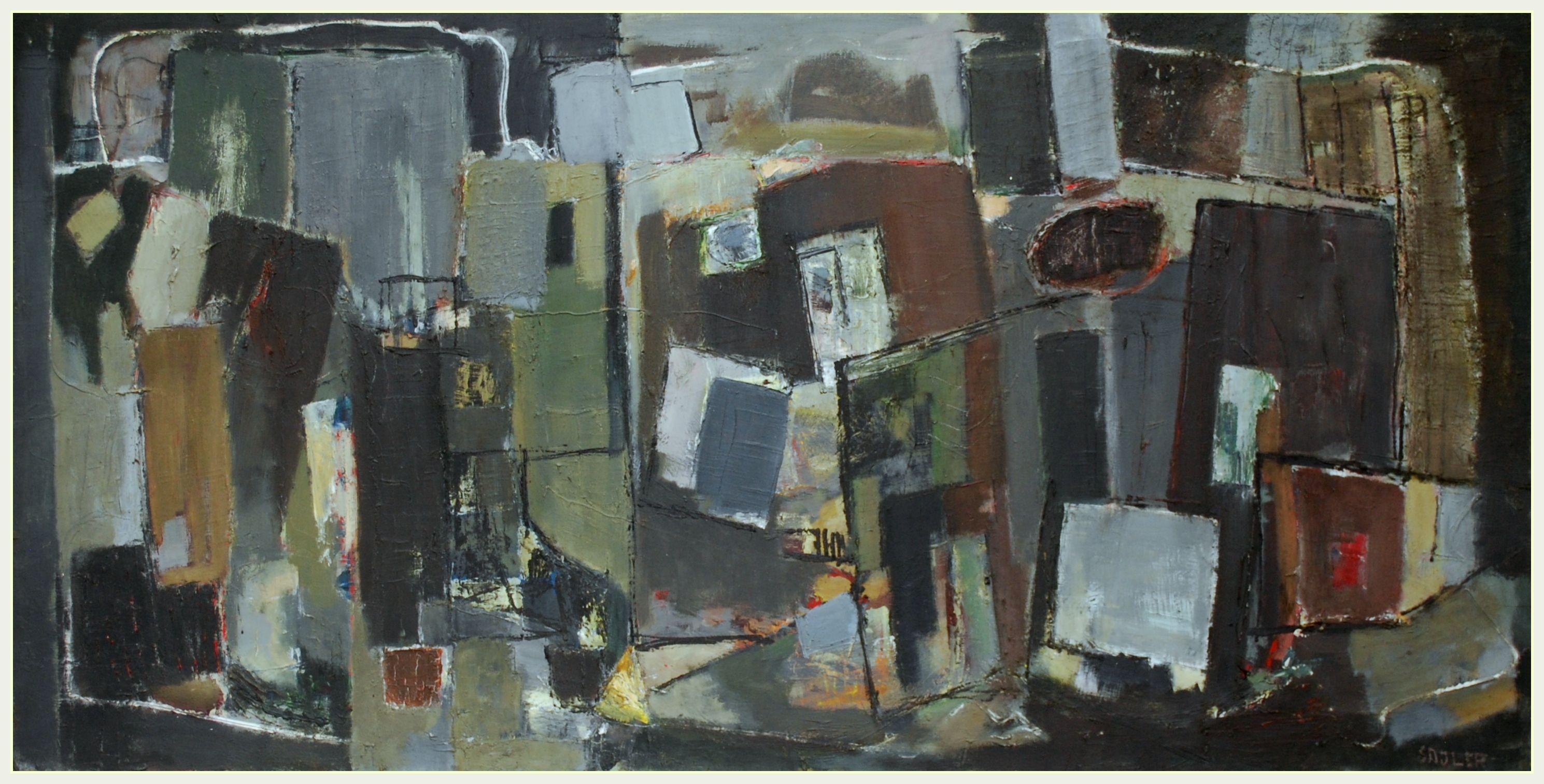 Mid20th century modern british abstract art by robert