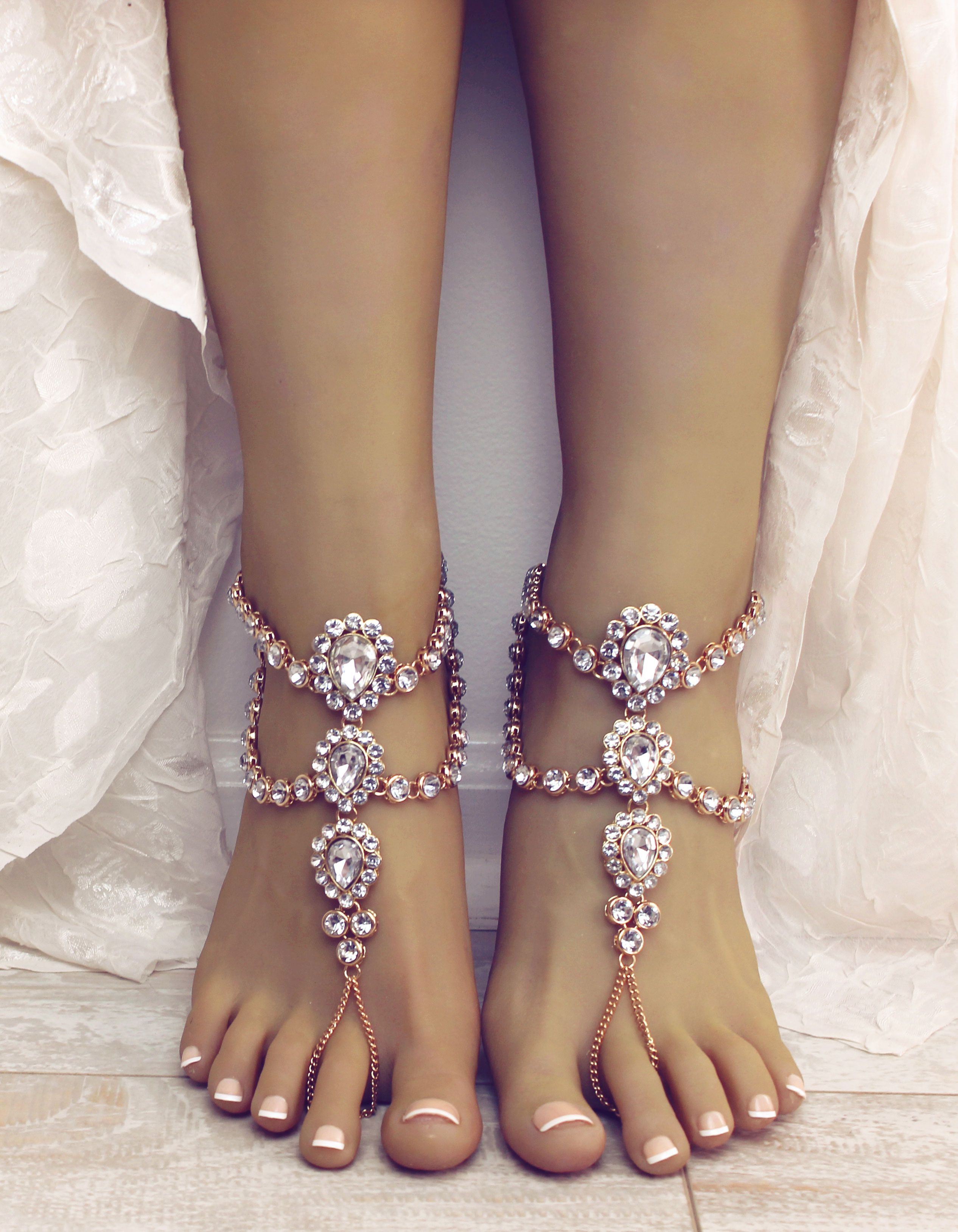 Luna Gold Barefoot Sandals Bare Foot Sandals Foot Jewelry