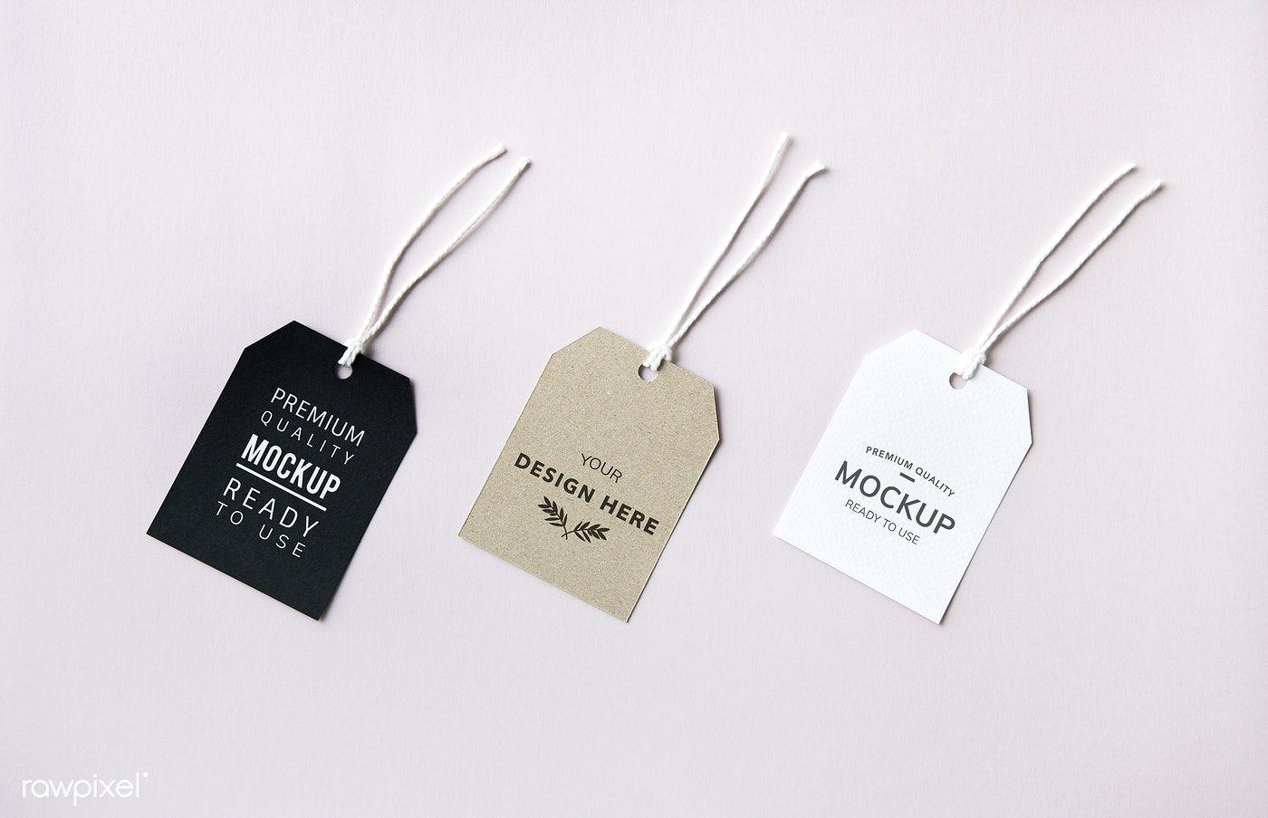 Download Premium Psd Of Three Fashion Label Tag Mockups 531871 Fashion Labels Mockup Tag Design