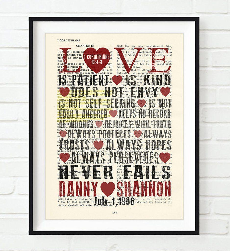 Love is Patient 1 Corinthians 1348 Personalized Bible