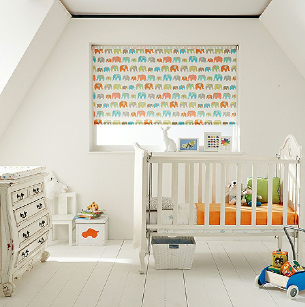 "Kids Bedroom Blinds to measure children's nursery blackout roller blind ""trunks"""
