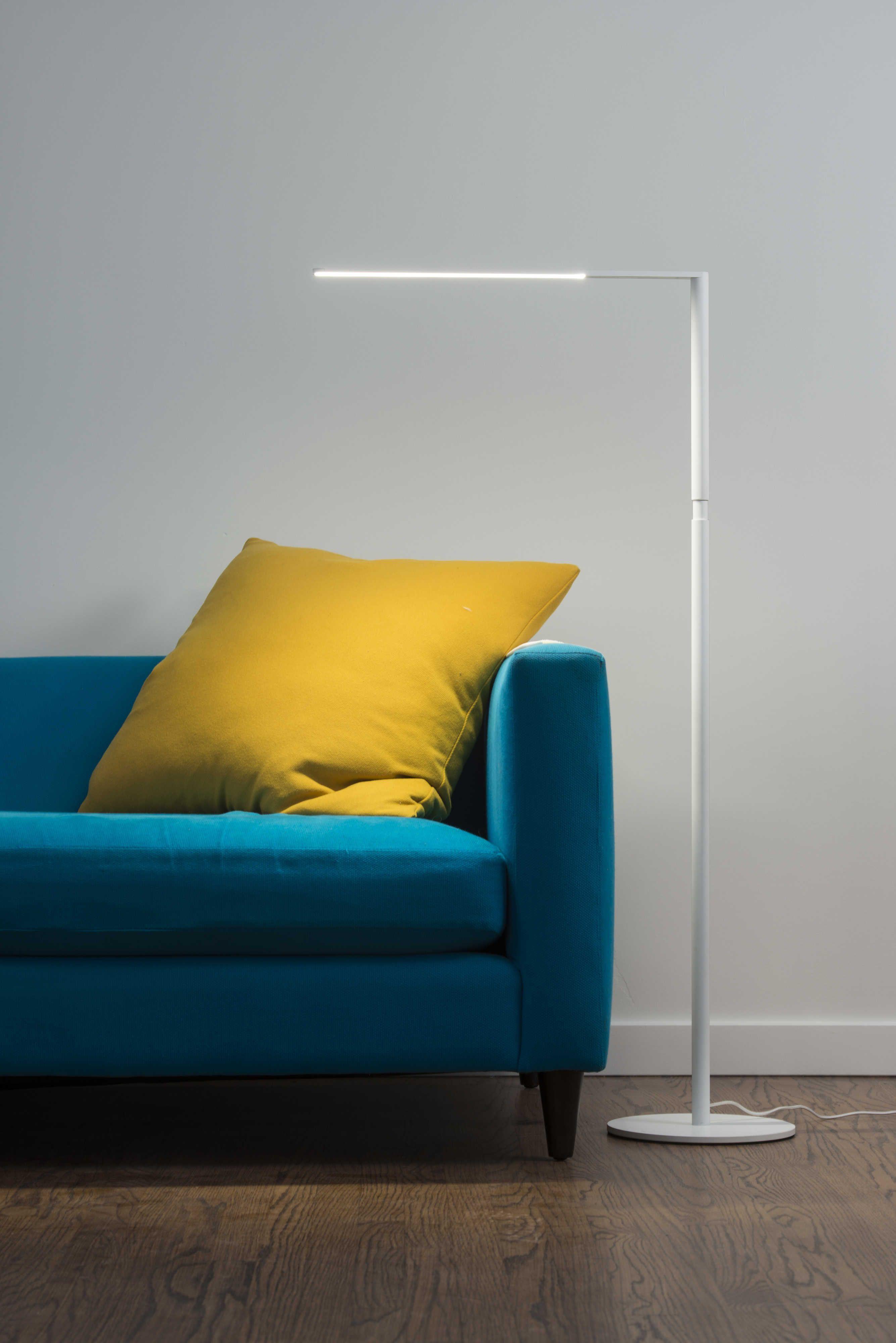 Koncept Lady7 Matte White Led Floor Lamp In 2020 Led Floor Lamp Flooring Floor Lamp