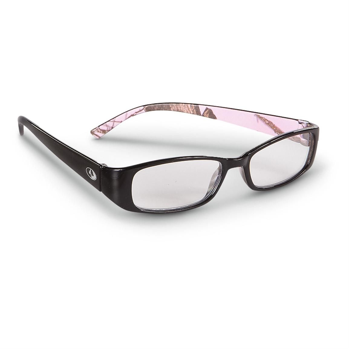 sportsmans guide has your womens mossy oak readers glossy black pink camo available at a great price in our sunglasses eyewear collection