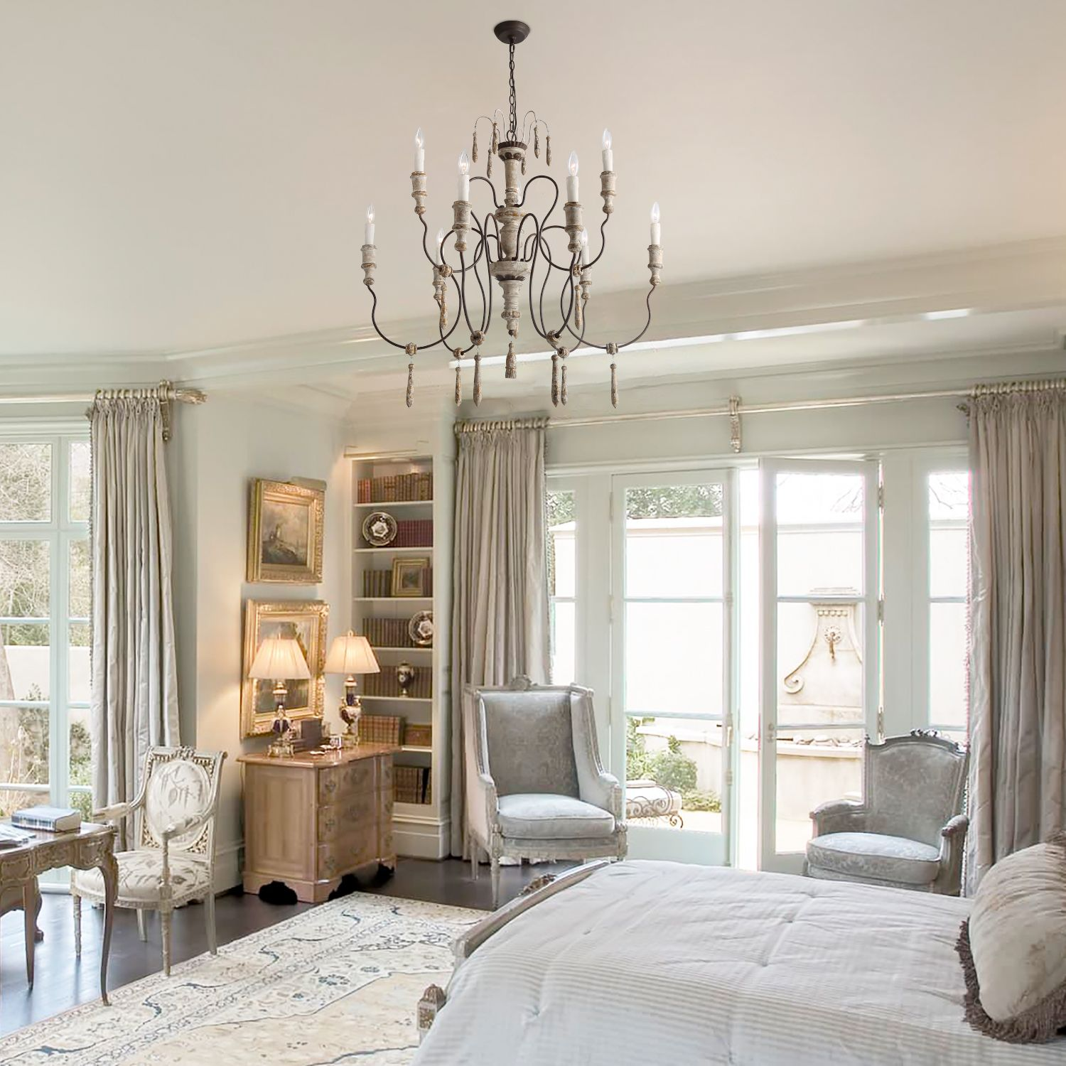 8 Light Shabby Chic French Country Chandeliers French Country Chandelier Country Chandelier French Country Bedrooms Download french country bedroom