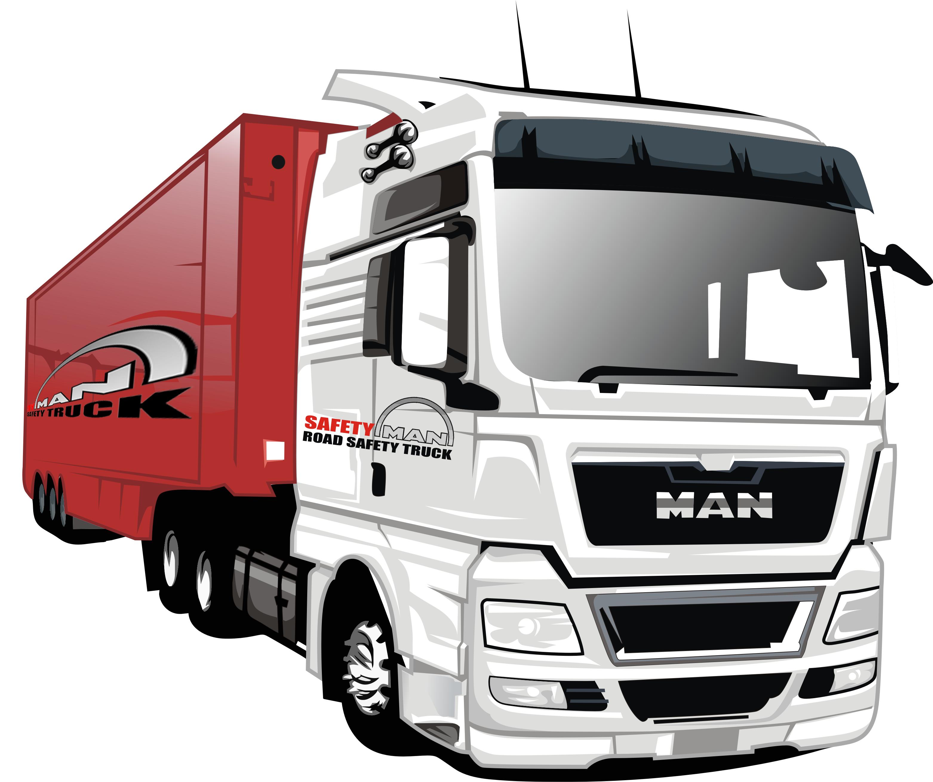 Man Truck Cartoon Style Truck Cars Truck Vector Cartoon