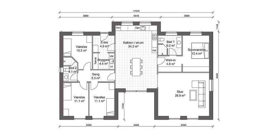 Funkis Hus Pa 165 M Ide Huse Plantegninger Boligplantegninger Huse