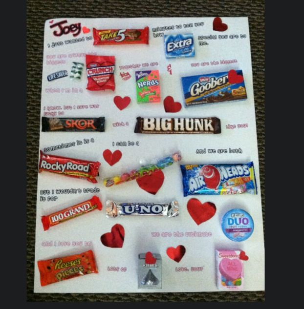 Candy bar valentines day card collage Yea I went there hehe
