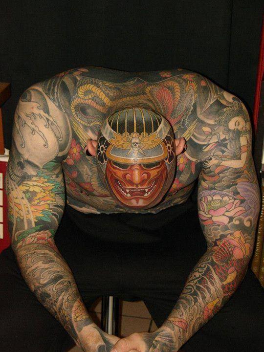 Badass Scalp Tattoo By Sailor Bit Freizeit Pinterest Scalp - Best traditional samurai tattoo designs meaning men women