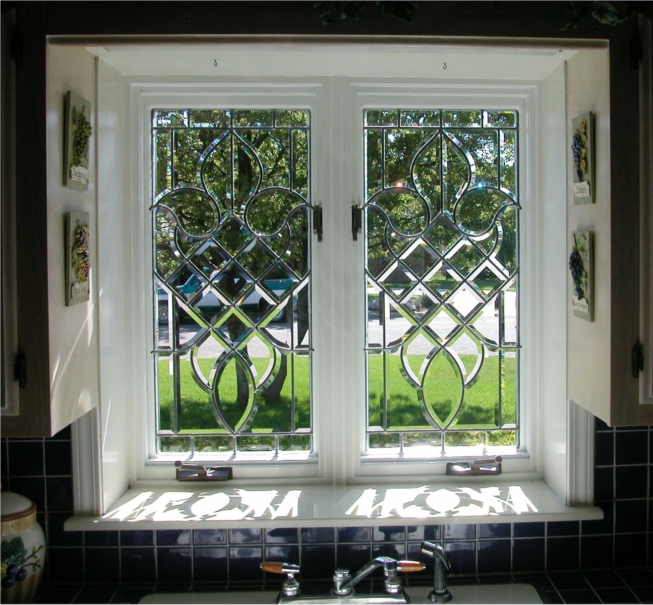 Beveled Windows Bathroom Window Glass Leaded Glass Door Window Stained