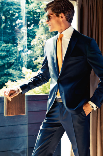 Add a pop of color with your tie for the big day.
