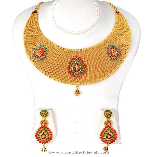 Gold bridal necklace set from jos alukkas gold jewel and collection gold bridal necklace set from jos alukkas south india jewels aloadofball Image collections