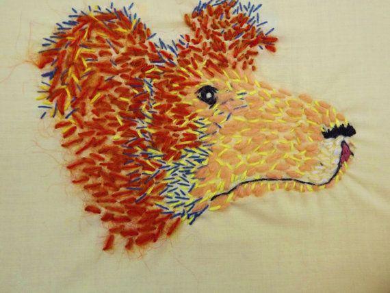 Sloth Bear Embroidery. £35.00, via Etsy.
