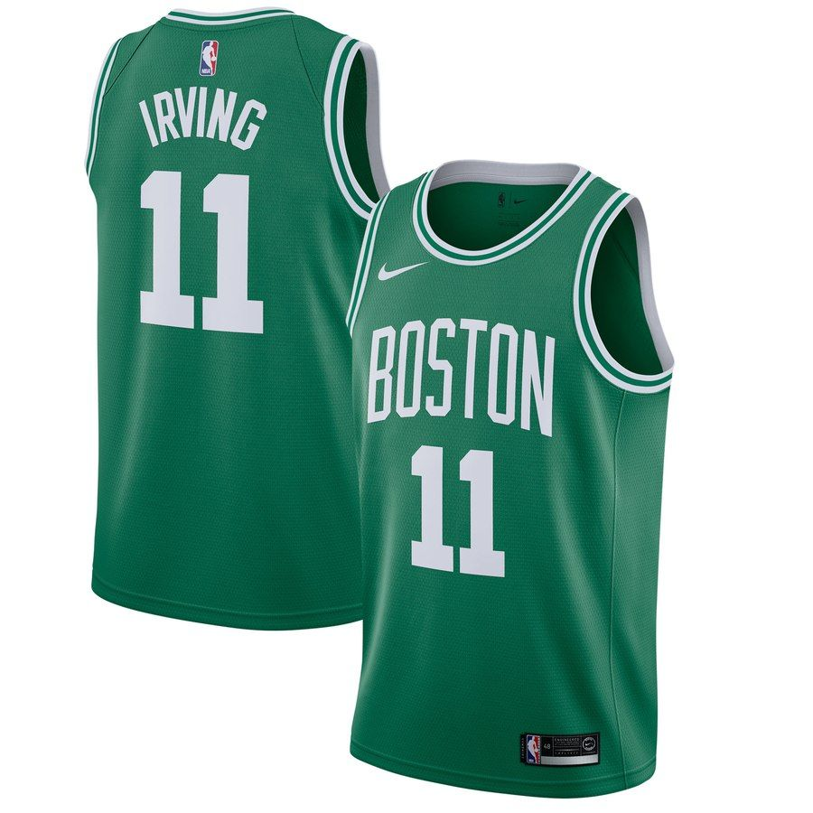 pretty nice a95ae 68732 Men's Boston Celtics Kyrie Irving Nike Kelly Green Swingman ...