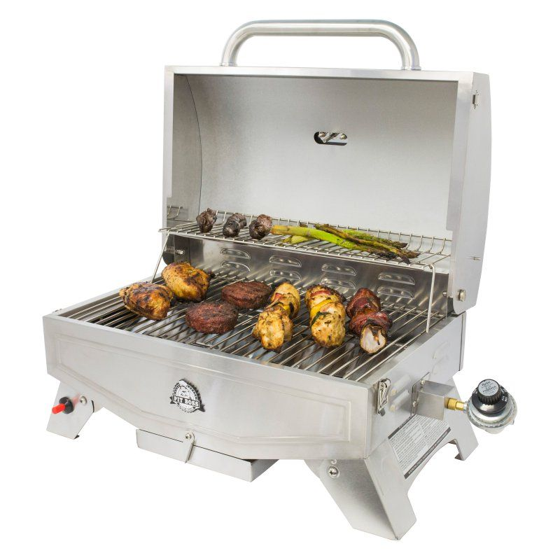 Pit boss 305 sq in stainless steel portable gas grill