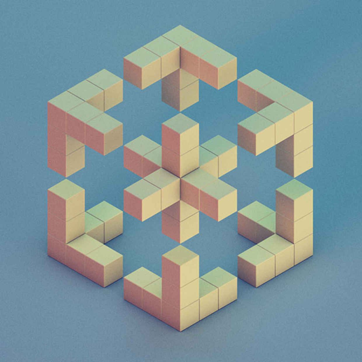 30 brilliant examples of geometric designs cube 3d and face Geometric patterns