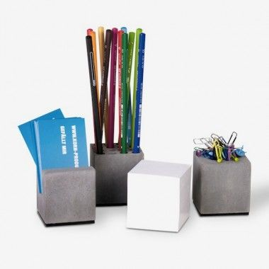 Korn Produkte Geschenkset BLOCK - Büro aus Beton (vierteilig)
