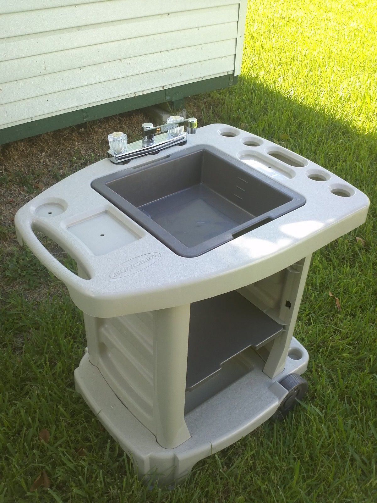 Portable outdoor sink garden camp kitchen camping rv new for Outdoor kitchen sink