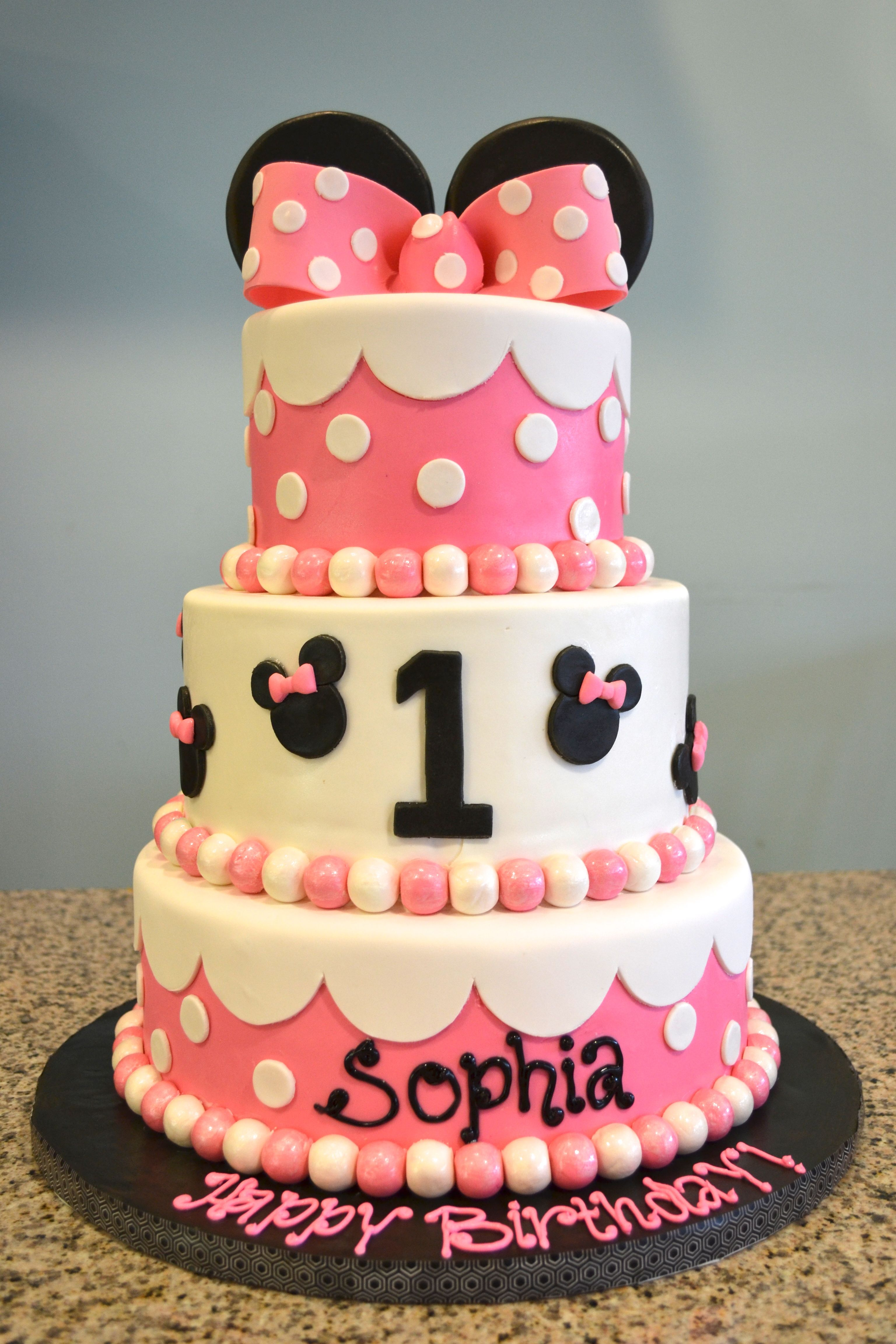 Minnie Mouse 1st Birthday Cake Baby Shower and 1st Birthday Cakes