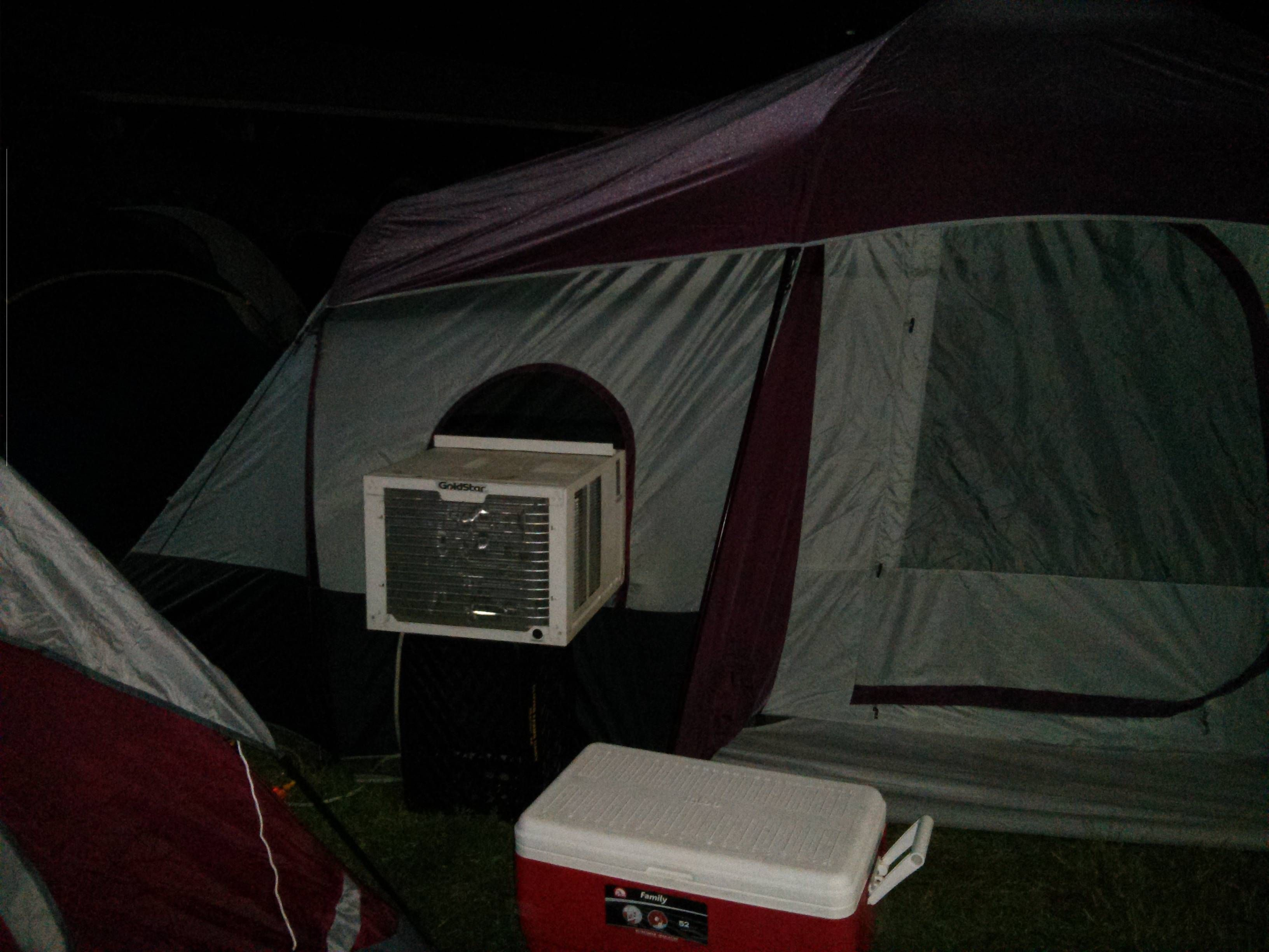 Roughing it. Camping AC Hvac humor, Heating and air