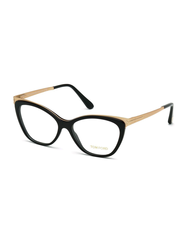 Cat-Eye Optical Frames, Shiny Black | Lentes, Vestidos clásicos y Gafas