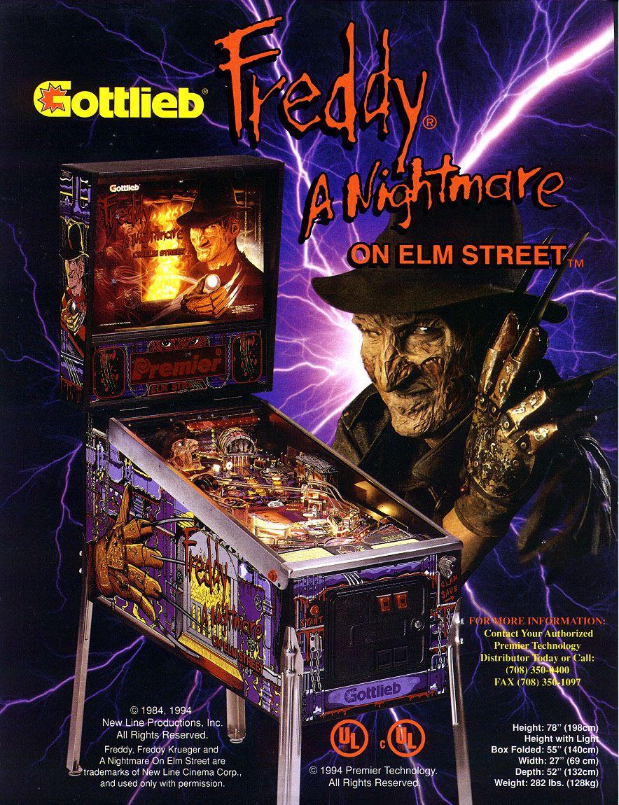 Nightmare On Elm Street Pinball Game Pinball Machine Pinball A Nightmare On Elm Street