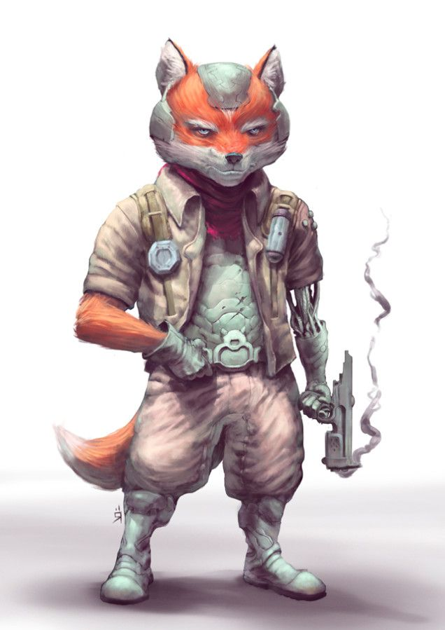 Here S Fox Mccloud And Falco From Star Fox Reimagined By
