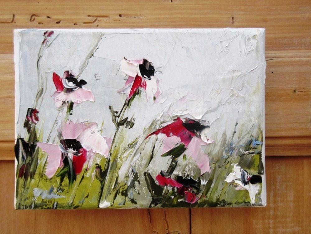 Les Elegantes Peinture Florale Fleurs Des Champs Huile Au