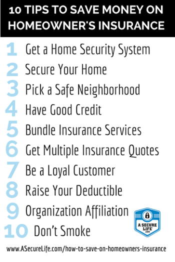 10 Ways To Save On Homeowners Insurance Homeownersinsurance 10