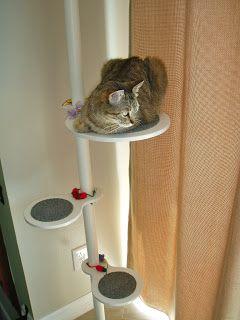tuto pour fabriquer un arbre chat design ceux du commerce sont vraiment trop moches. Black Bedroom Furniture Sets. Home Design Ideas