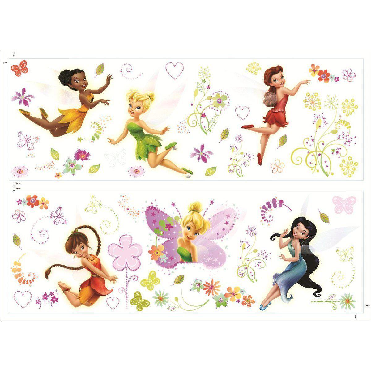 57 stickers f e clochette fairies disney fairies f e for Decoration chambre la fee clochette