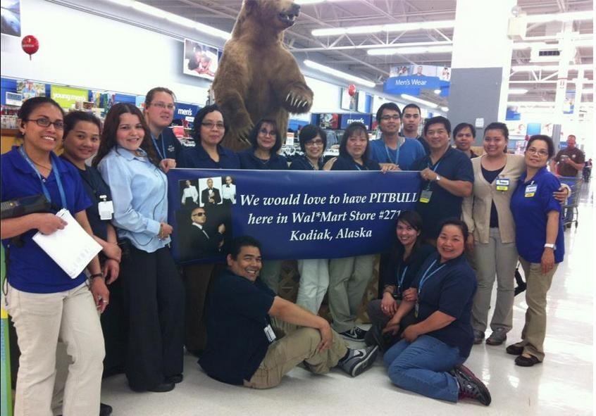 Walmart In Kodiak Alaska Pitbull Walmart Alaska Social Media Programs Social Media Social Media Promotion