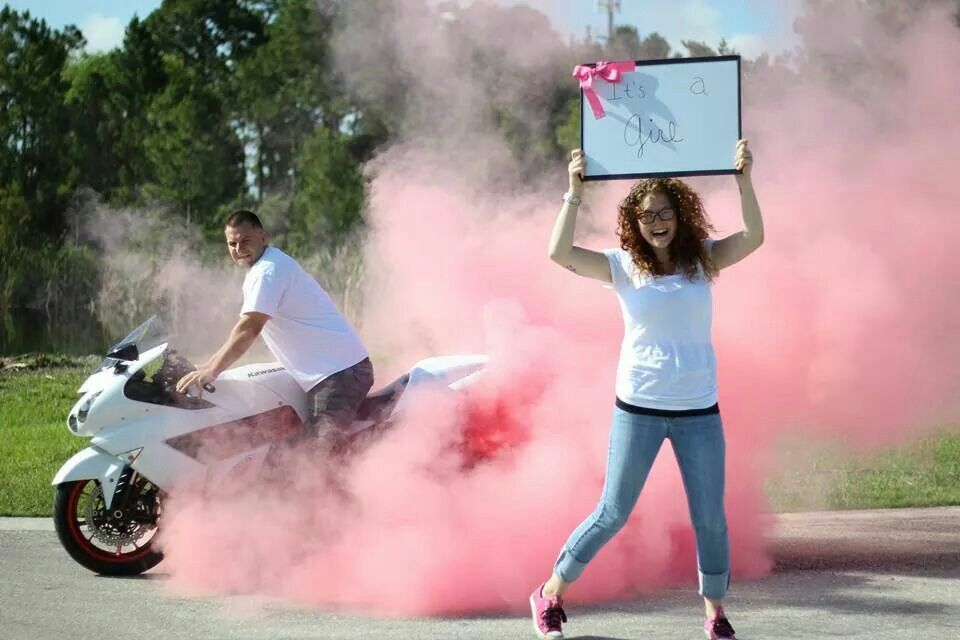 Possibly The First Time This Is Done Gender Reveal With A Smoke Bomb Tire Destinee Gulledge Baby Gender Reveal Gender Reveal Gender Reveal Smoke