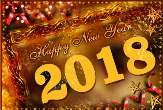 2018 new year greeting ecard image