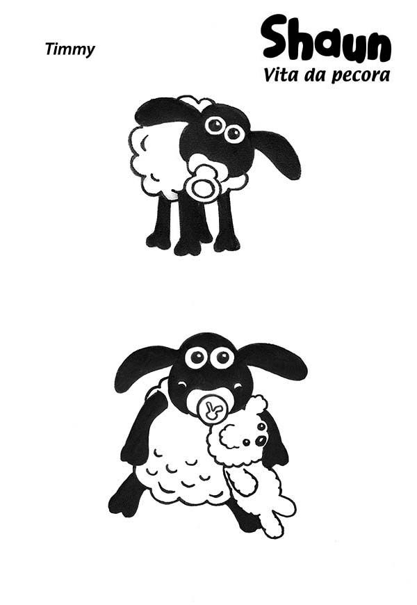 Shaun the Sheep, : Baby Timmy in Shaun the Sheep Coloring Page ...