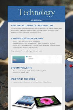 Using Smore.com, teachers can create newsletters to send home to parents so they are kept updated.