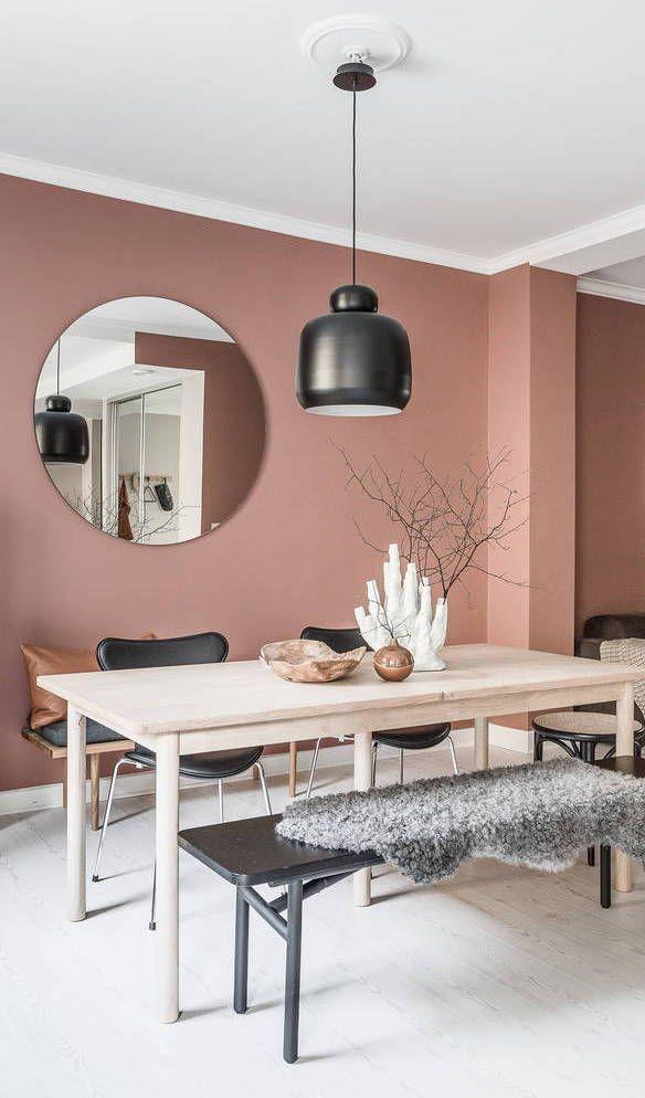 Home In Soft Pink Via Coco Lapine Design Blog Deco Peinture Salon Maison  Also Ambiance Velours
