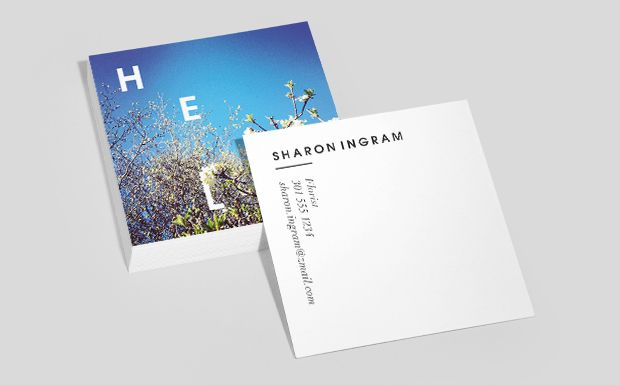 Pretty Cool Moo Has Square Business Cards Now Typeacon Carte De Visite