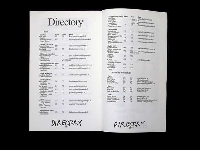 Program Brochure 2007 JvE Bookdesign  2006/2007 @Jan van Eyck