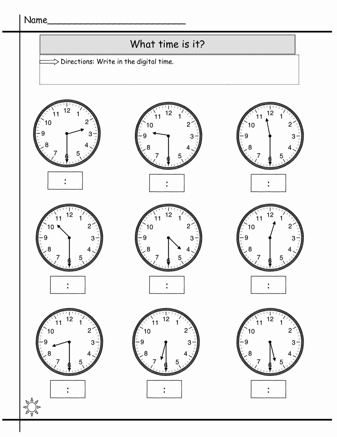 hight resolution of Preschool Clock Worksheet   Free printable math worksheets