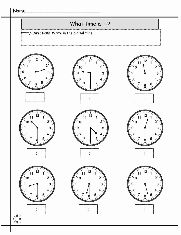 Preschool Clock Worksheet In