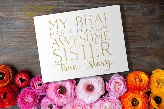 Indian Raksha Bandhan Greeting Card Printable - Freakin' Awesome Sister by KiwiAndBacon #Bhai #Brother #Bhaiya #Birthday or #Rakhi #Gold #Foil #southasian #hindilove #indianlove #funnydesi #sillyindian #sister #rakshabandhancards Indian Raksha Bandhan Greeting Card Printable - Freakin' Awesome Sister by KiwiAndBacon #Bhai #Brother #Bhaiya #Birthday or #Rakhi #Gold #Foil #southasian #hindilove #indianlove #funnydesi #sillyindian #sister #rakshabandhancards Indian Raksha Bandhan Greeting Card Prin #rakshabandhancards