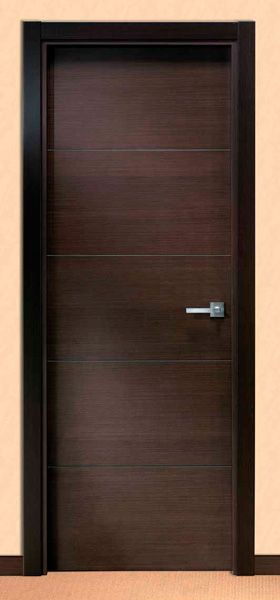 Puerta moderna en color chocolate puertas pinterest for Puertas interiores modernas