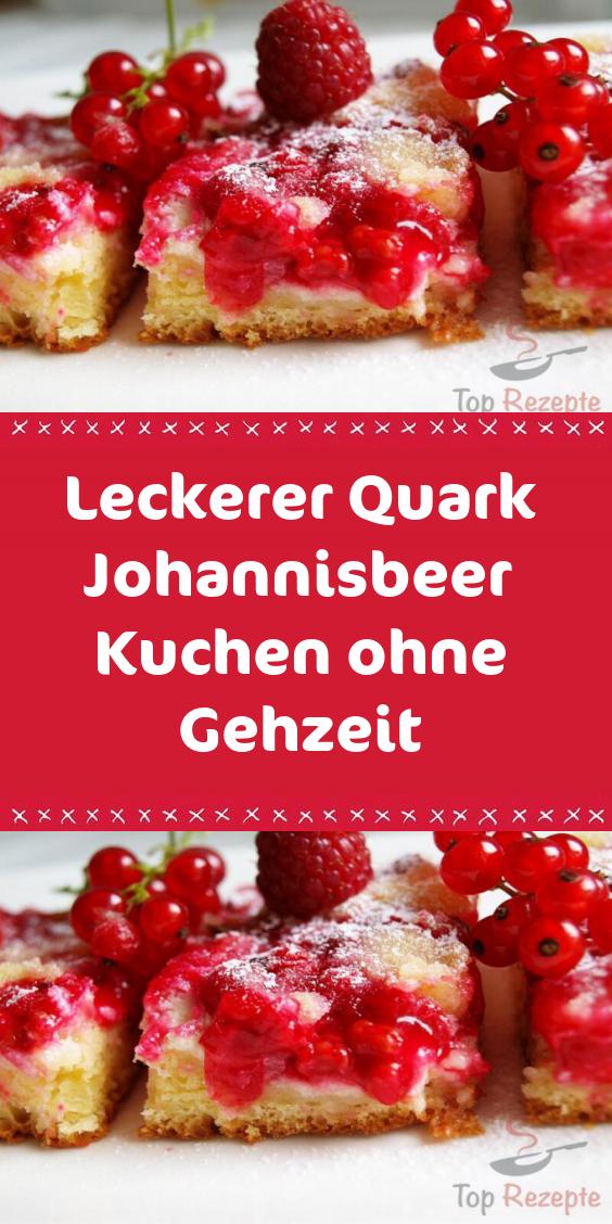 Leckerer Quark Johannisbeer Kuchen Ohne Gehzeit In 2020 Lecker Rezepte Rezept Schmorgurken