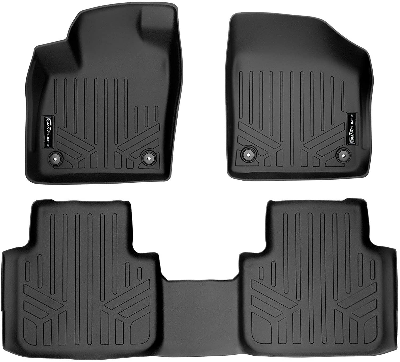 Smartliner All Weather Floor Mats 2 Row Liner Set Black For 2018 21 Volkswagen Atlas 2020 21 Cro Volkswagen Car Interior Floor Mats
