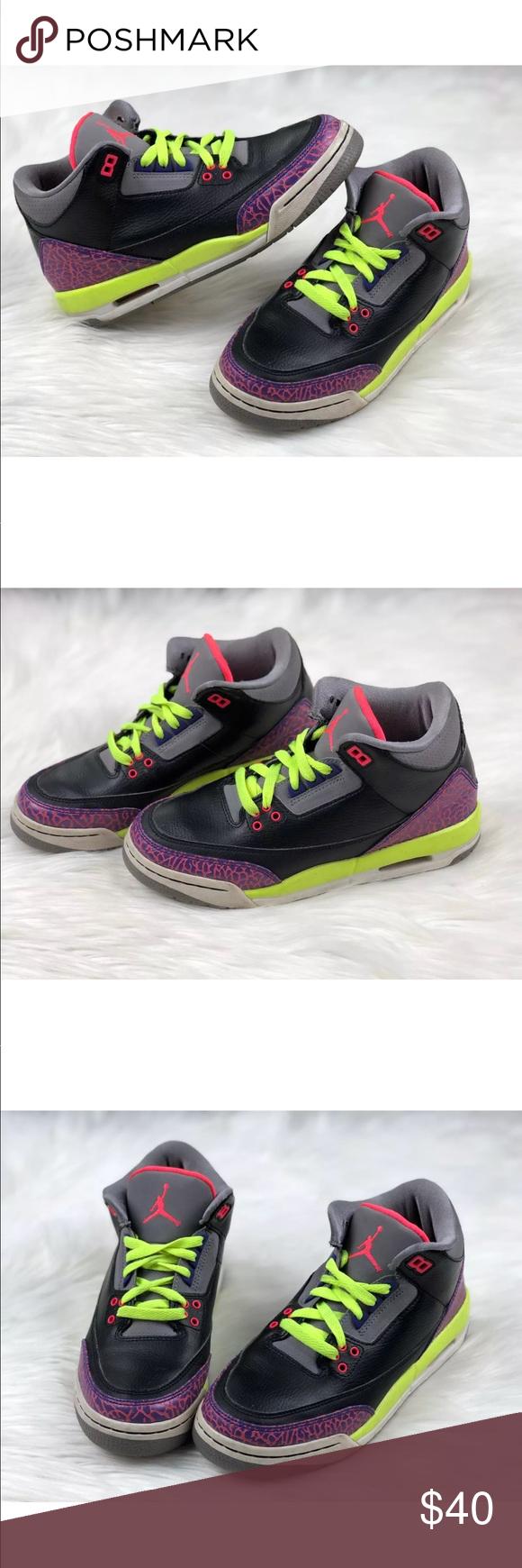 premium selection 6fef0 440d6 Nike Air Jordan 3 Retro 6Y Black Joker Shoes Girls Nike Air Jordan 3 Retro  GS SZ 6Y Black Atmoic Joker Shoes 441140-039 Preowned good condition.