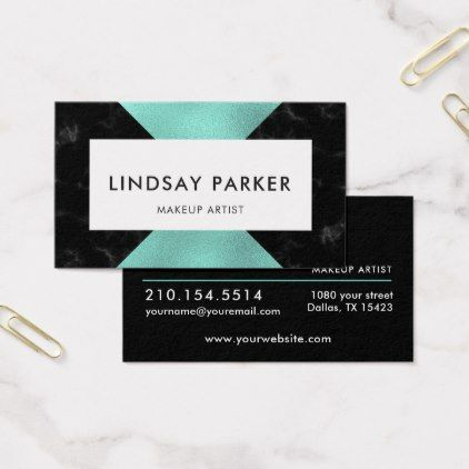 Minimalist mint black professional business card minimalist mint black professional business card real estate gifts business cyo diy customize reheart Image collections