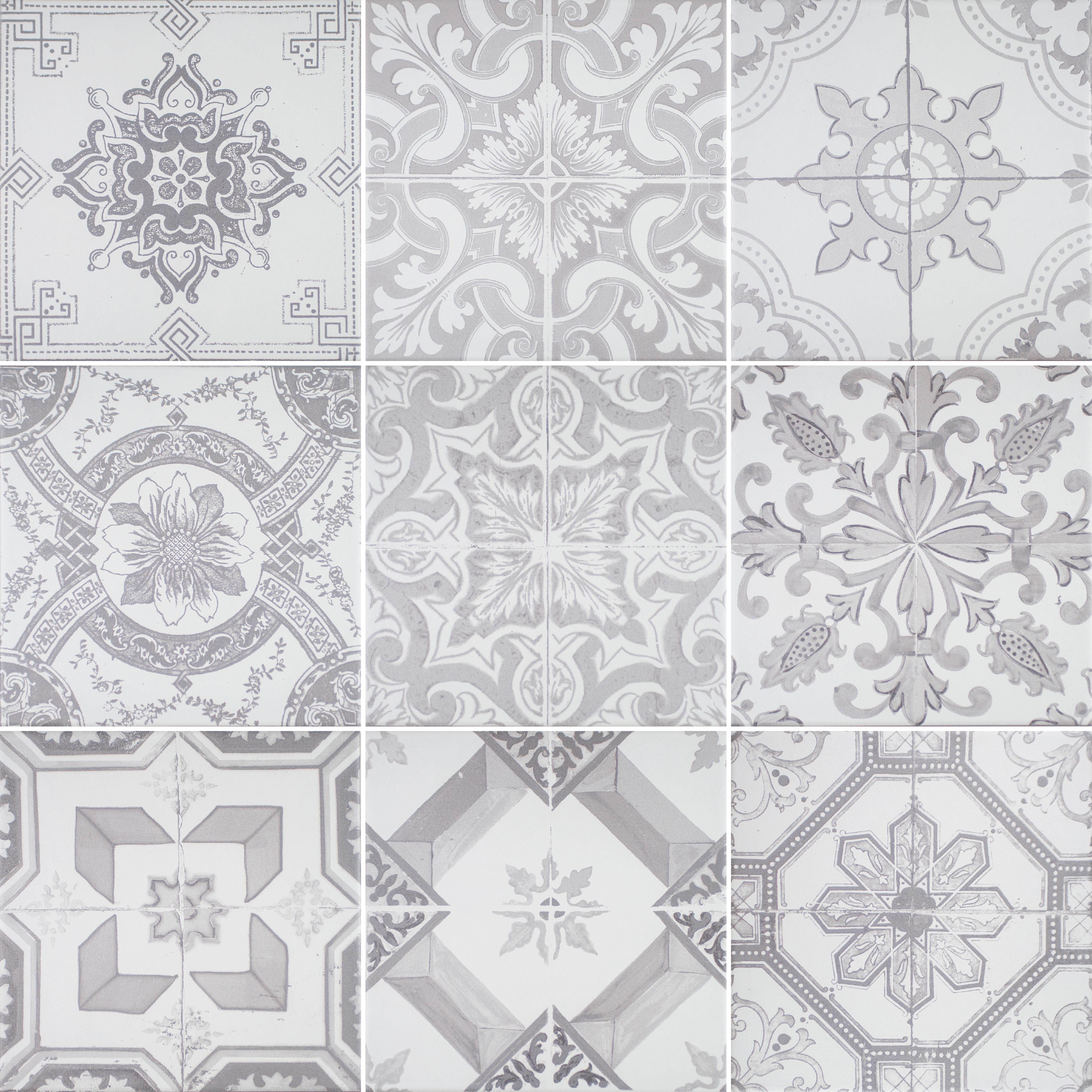 Vintage grey bathroom floor tiles from Utopia Bathrooms. | Dark ...